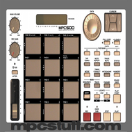 Akai MPC 500 Color Faceplate Skin - Choose Color