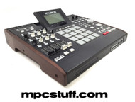 Akai MPC 5000 Wood End Cap Cheek Panels Walnut - Top Side