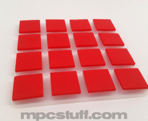 Red MPC Akai Element / Fly Thick Fat Pads