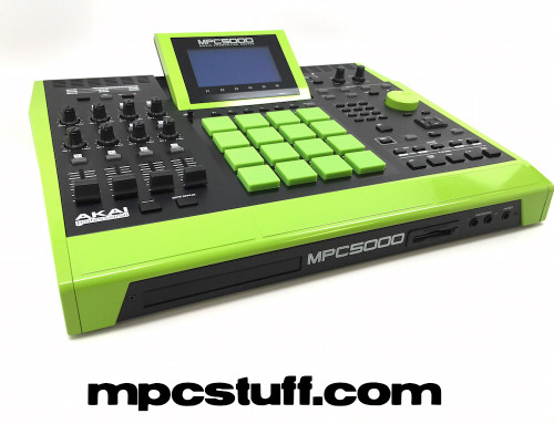 Custom Color Full Custom Akai MPC5000 - Lime Green - Front
