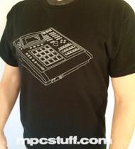 Akai MPC 3000 T - Shirt - MPCstuff - Front Worn