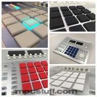 NI MASCHINE V2 THICK FAT PADS - CUSTOM COLORS WITH LED