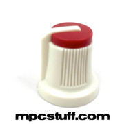 Record Volume Knob White / Red Top - Akai MPC