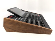 Wood Side Panel Tilt Stand - Akai MPCX - Walnut End Caps (WP-MPC-X)