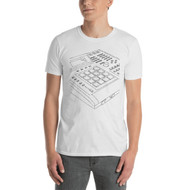 Akai MPC 3000 Outline - Short-Sleeve Unisex T-Shirt