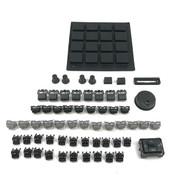 Full Black Out Button Knob Kit - Akai MPC2500