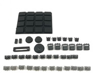 Full Black Out Button Knob Kit - Akai MPC1000
