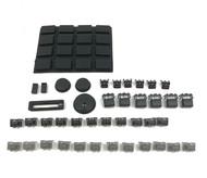 Full Black Out Button Knob Kit - Akai MPC1000