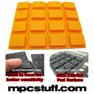 Akai MPC 1000 Extra Sensitive Thick Fat Pad Set ( Orange )
