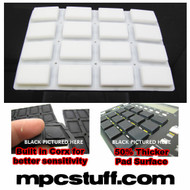 Akai MPC 1000 Extra Sensitive Thick Fat Pad Set ( White )