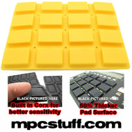 Akai MPC 1000 / MPK Extra Sensitive Thick Fat Pad Set ( Yellow )