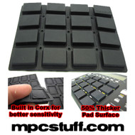 Akai MPC 1000 Extra Sensitive Thick Fat Pad Set ( Black )