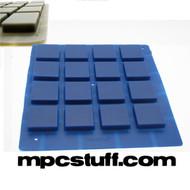 MPCstuff Thick Fat Pads Akai MPC / MPD - Blue