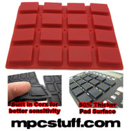 Akai MPC 1000 Extra Sensitive Thick Fat Pad Set ( Red )