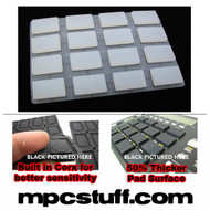 Akai MPC 1000 / MPK Extra Sensitive Thick Fat Pad Set ( Clear )