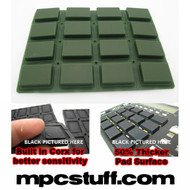 Akai MPC 1000 Extra Sensitive Thick Fat Pad Set ( Dark Army Green )