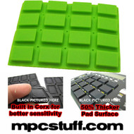 Akai MPC 1000 Extra Sensitive Thick Fat Pad Set ( Lime Green )