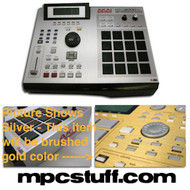 MPC2000XL - Brushed Gold Faceplate Skin