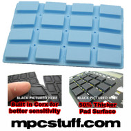 Akai MPC 1000 Extra Sensitive Thick Fat Pad Set ( Light Carolina Blue )