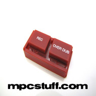 Record / Overdub Button Set - Red - MPC Renaissance / MPC X