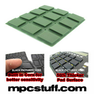 Akai MPC 500 / MPK Sensitive Thick Fat Pad Set ( Dark Army Green )