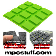 Akai MPC 500 / MPK Sensitive Thick Fat Pad Set ( Bright Lime Green )