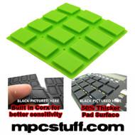 Akai MPC 500 / MPK Sensitive Thick Fat Pad Set ( Bright Lime Green )