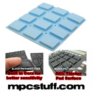 Akai MPC 500 / MPK Sensitive Thick Fat Pad Set ( Light Carolina Blue )
