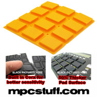Akai MPC 500 / MPK Sensitive Thick Fat Pad Set ( Orange )