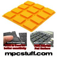 Akai MPC 500 / MPK Sensitive Thick Fat Pad Set ( Orange )