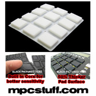 Akai MPC 500 / MPK Sensitive Thick Fat Pad Set ( White )