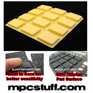 Akai MPC 500 / MPK Sensitive Thick Fat Pad Set ( Yellow )