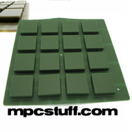 Dark Army Green Thick Fat Pads - Akai MPC / MPD