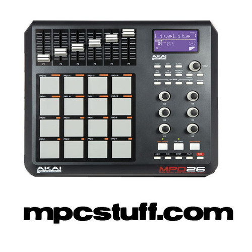 akai mpd 26 performance controller w software and any color pads rh mpcstuff com Kindle Fire User Guide Word Manual Guide