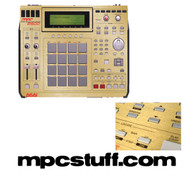 Akai MPC 2500 Color Faceplate Skin - Brushed Gold / Shiny Gold
