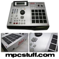 Brushed Silver Skin MPC2000XL