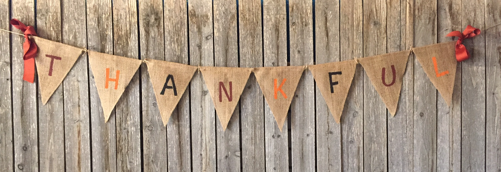 Thanksgiving Day Homemade DIY Banner