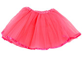 Neon Hot Pink Ribbon Lined Dance Tutu