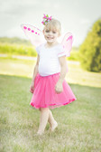 Neon Hot Pink Ribbon Lined Girl's Dance Tutu