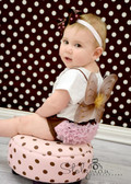 Diaper Cover Brown with Light Pink Ruffles