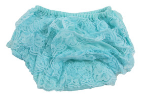 Frozen Aqua Lace Diaper Cover