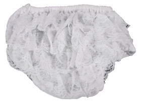 White Lace Diaper Cover