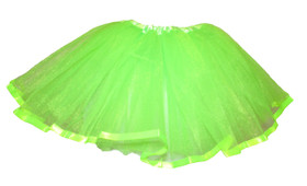 Lime Green Ribbon Lined Dance Skirt