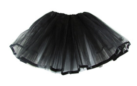 Black Ribbon Lined Dance Tutu