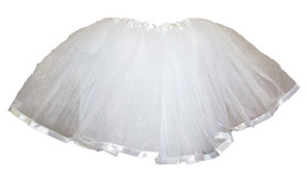 White Ribbon Lined Dance Tutu