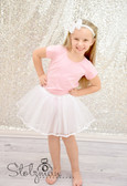 Ribbon Lined Dance Tutu White