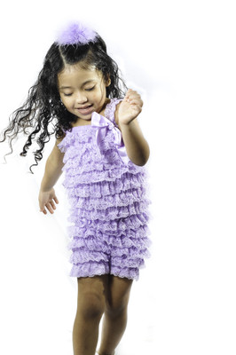 Baby Girl Clothes Amp Rompers Lavender Ruffle Lace Romper