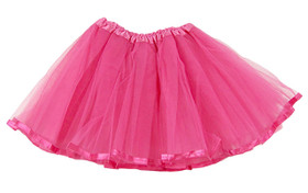 Dark Pink Ribbon Lined Dance Tutu