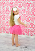 Ribbon Lined Tutu Dark Pink