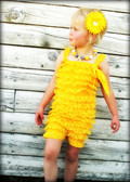 Yellow Lace Ruffle Romper